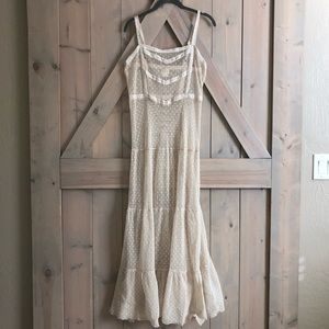 Free people intimately dotted Swiss long dress lg